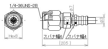 製図:ストレートプラグ 085用