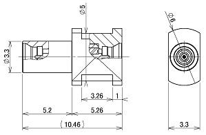 製図:中継アダプター Plug-Plug