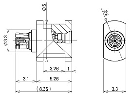 製図:中継アダプター Plug-Jack