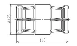 製図:中継アダプター Jack-Jack L=3.0mm