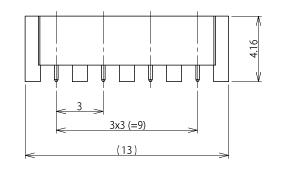 製図:4連 EMT レセプタクル P=3.0mm