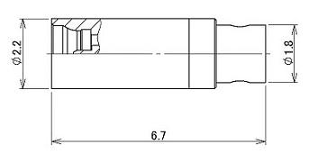 製図:ストレートプラグ 047用