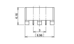 製図:2連 EMT レセプタクル P=3.0mm