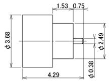 製図:ハーメチックレセプタクル 端子L=0.75mm