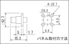 製図:4穴フランジ付ストレートプラグ