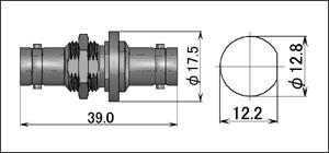 製図:ストレート インシリーズ アダプター J-J(バルクヘッド型)