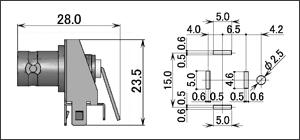 製図:L形レセプタクル(基板用)3