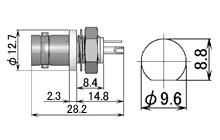 製図:シャーシとの絶縁型レセプタクル