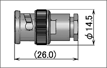 製図:ストレートプラグ(締め込みタイプ)