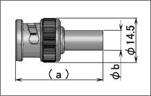 製図:ストレートプラグ(圧着タイプ)75Ω