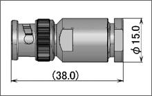 製図:ストレートプラグ(締め込みタイプ)75Ω2