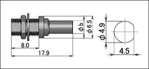 製図:バルクヘッドジャック(圧着タイプ)