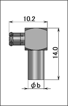 製図:L形プラグ(圧着タイプ)75Ω