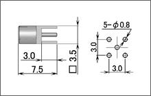 製図:ストレートレセプタクル(基板用)