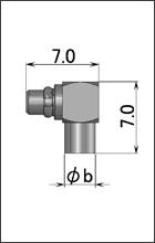 製図:L形プラグ(はんだタイプ)