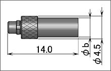 製図:ストレートプラグ(圧着タイプ)