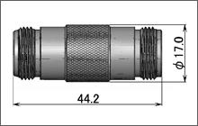 製図:ストレート インシリーズ アダプター J-J 75Ω