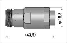製図:ストレートジャック(はんだ・締め込みタイプ)UT-250/2801用