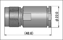 製図:ストレートプラグ(締め込みタイプ)10D用