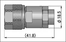 製図:ストレートプラグ(はんだ・締め込みタイプ)UT-250/2801用