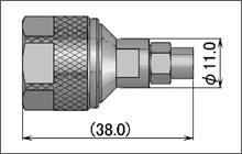 製図:ストレートプラグ(はんだ・締め込みタイプ)HFE-160D用