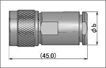 製図:ストレートプラグ(締め込みタイプ)75Ω