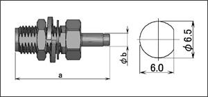 製図:バルクヘッドジャック(圧着タイプ)(前止め)