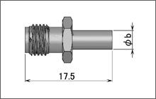 製図:ストレートジャック(圧着タイプ)1.5D/2.5D他 Brass