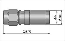 製図:ストレートプラグ(圧着タイプ)3D以上