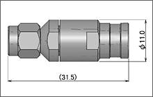 製図:ストレートプラグ(締め込みタイプ)5D用