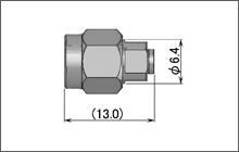 製図:ストレートプラグ(はんだタイプ)085/141用 Brass