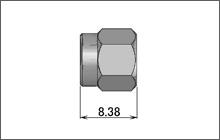 製図:ストレートプラグ(はんだタイプ)141用 SUS 中心コンタクトなし