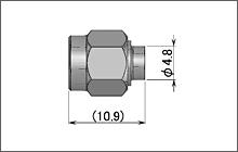 製図:ストレートプラグ(はんだタイプ)085/141用 SUS