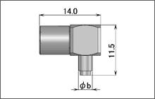 製図:L形プラグ(圧着タイプ)