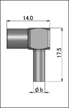 製図:L形プラグ(圧着タイプ)1.5D/RG-174・316・188用