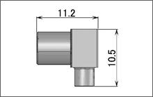 製図:低背位型 L形プラグ(はんだタイプ)