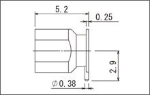 製図:表面実装レセプタクル
